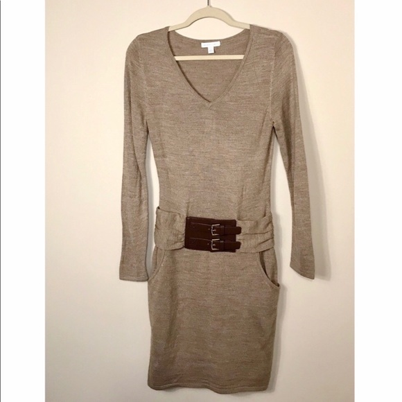 Dresses & Skirts - NY & Co Belted Sweater Dress - FINAL PRICE